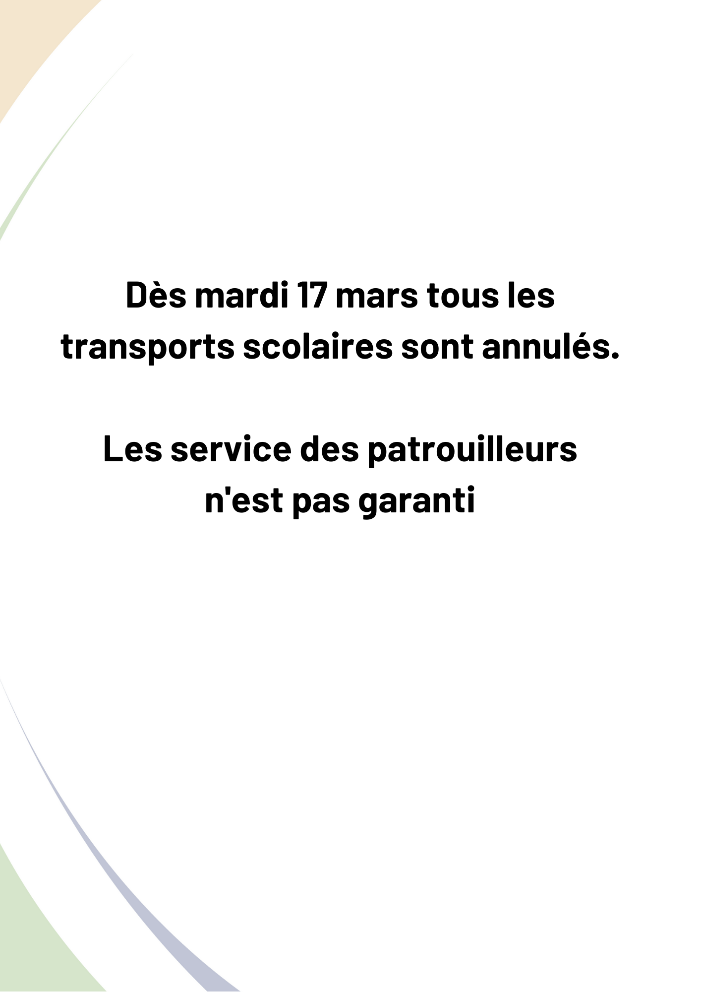 interruption transports scolaires